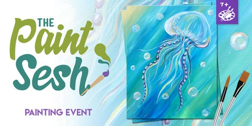 """All Ages Painting Event in Downtown Riverside, CA - """"Underwater Life"""""""
