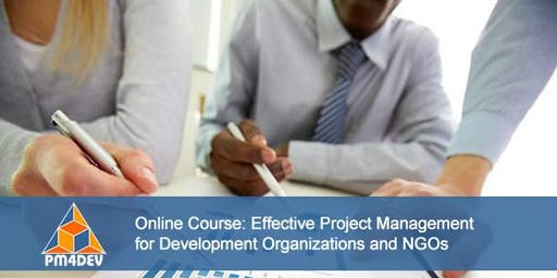 Online Course: Effective Project Management for Development (September 9, 2019)