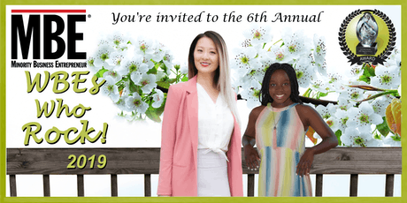 """MBE magazine's 2019 """"WBEs Who Rock!"""" tickets"""