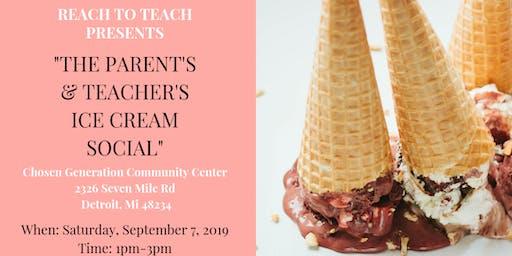 The Parents and Teachers Ice Cream Social