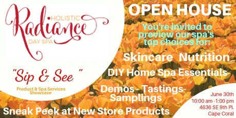 """Holistic Radiance Day Spa  """"Sip & See"""" Open House Spa Showcase tickets"""