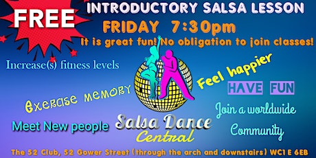 FREE introductory Salsa class tickets