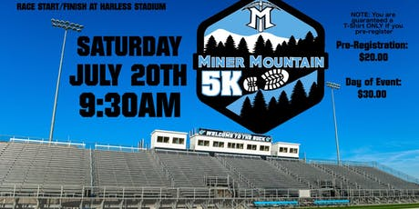 Miner Mountain 5K tickets