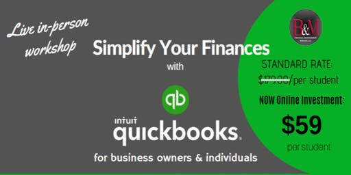 Workshop: Simplify Your Finances with QuickBooks  (Live Instructor-Led)