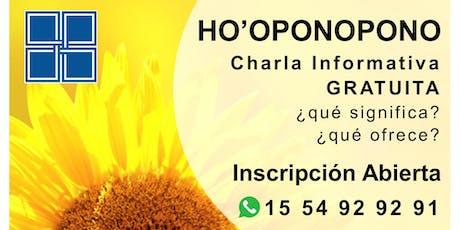HO'OPONOPONO - Charla Informativa GRATUITA entradas