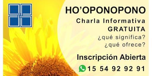 HO'OPONOPONO - Charla Informativa GRATUITA