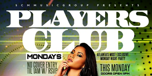 PLAYERS CLUB MONDAYS @ AURUM LOUNGE