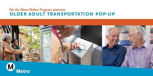 Older Adult Transportation Pop-Up
