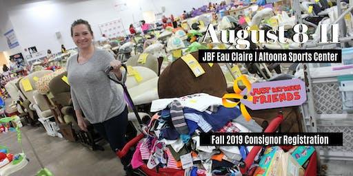 JBF Fall Eau Claire/Altoona 2019 Consignor Reservation