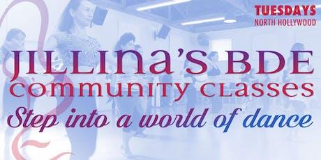 Jillina's BDE Community Classes - June! tickets