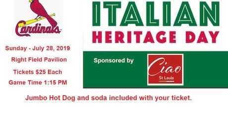 Italian Heritage Day at Busch - Cards vs Astros  - Triple Bobblehead SGA tickets