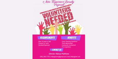 JOIN OUR PAGEANT FAMILY- SEEKING VOLUNTEERS!