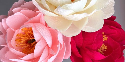 The Art of Crepe Paper Flower Making: Peonies