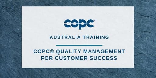 Quality Management for Customer Success - Melbourne