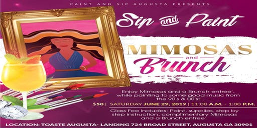 Paint and Sip - Mimosas & Brunch