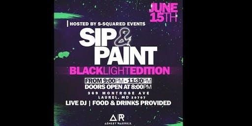 Sip & Paint Black-Light Edition