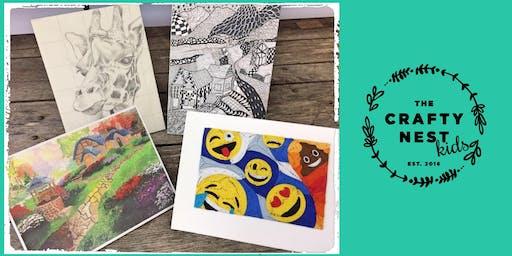 """Whitinsville 10-13 Year Old """"Art Theme"""" Summer Workshop"""