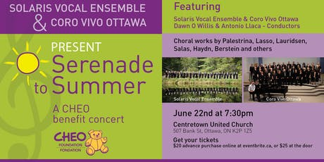 Serenade to Summer - A CHEO Benefit Concert tickets