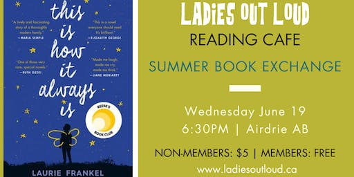 LOL Reading Cafe - SUMMER BOOK EXCHANGE (Member RSVP)