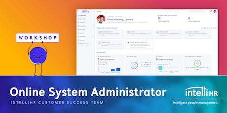 Workshop - Online System Administrator tickets