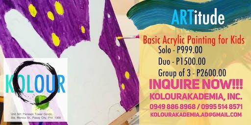 ARTitude (Basic Acrylic Painting for Kids: Sunday)