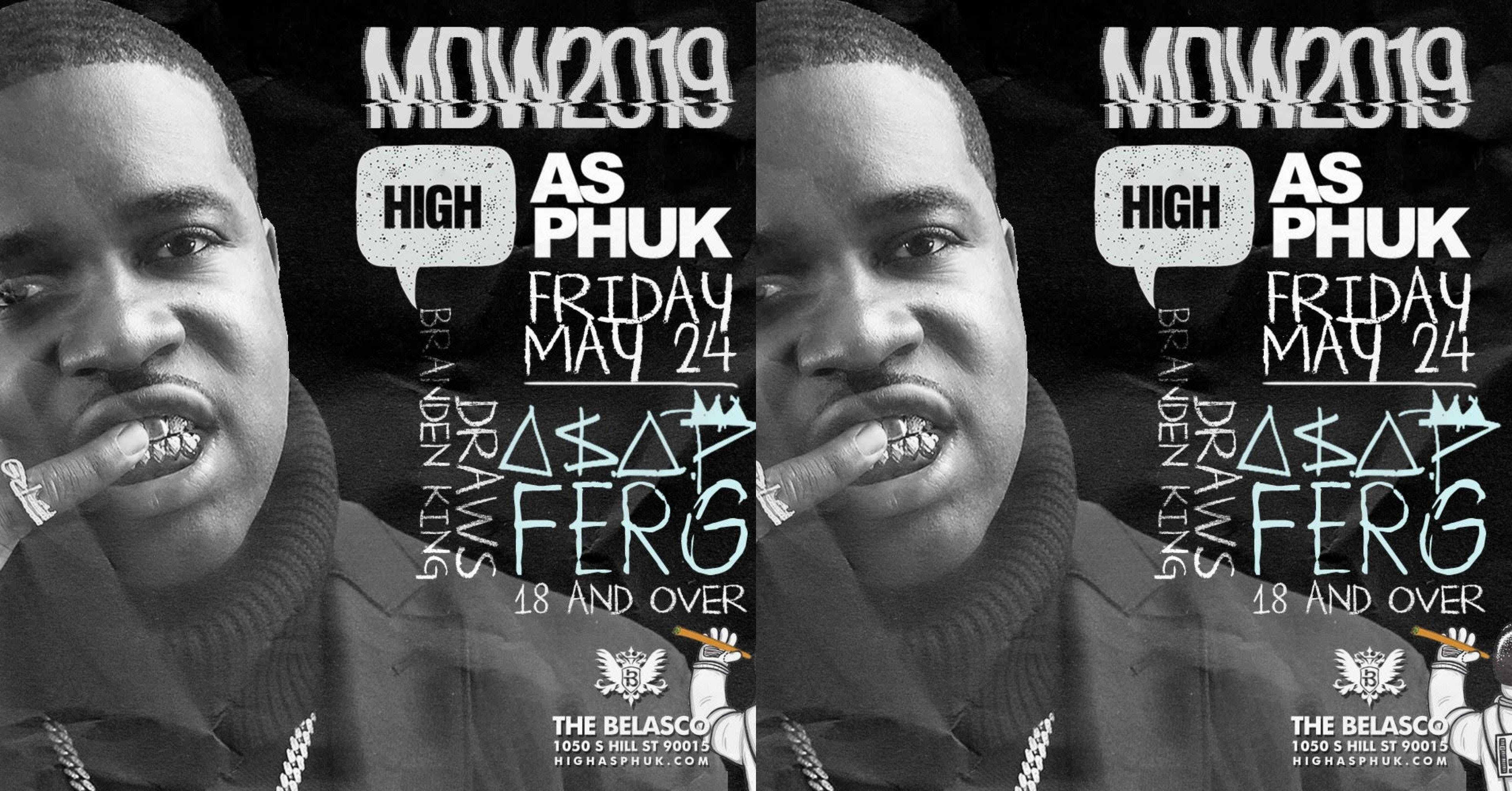 A$AP FERG at The Belasco Theater 18+ MDW 2019