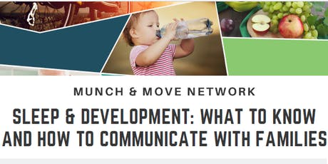 Munch & Move Network: Sleep & Development - Dapto tickets