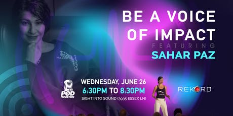 Be A Voice Of Impact featuring Sahar Paz tickets