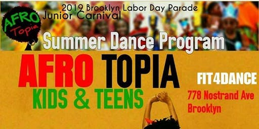 Afrotopia Kids Dance  Class Ages 5-10