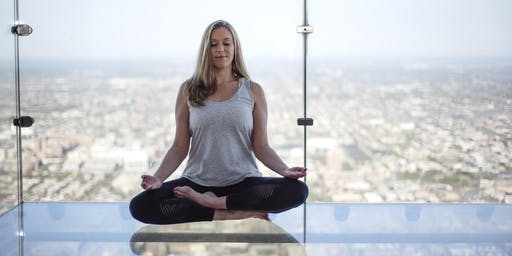 """""""Meditation in the Sky"""" at the Chicago Skydeck - Willis Tower"""