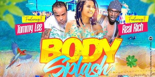 Body splash bikini beach party