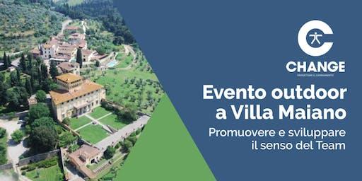 Evento Outdoor a Villa Maiano - Promuovere e Sviluppare il Senso del Team