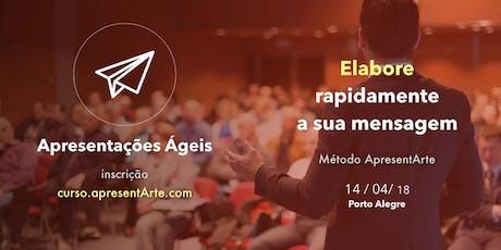 Curso ApresentArte - Apresentações Ágeis - 19/10/18 ingressos
