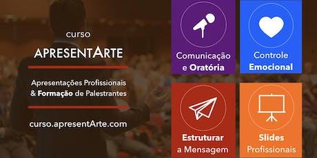 Curso ApresentArte - Apresentações Profissionais & Formação de Palestrantes -jul/ago/set/out/nov.. 19 ingressos