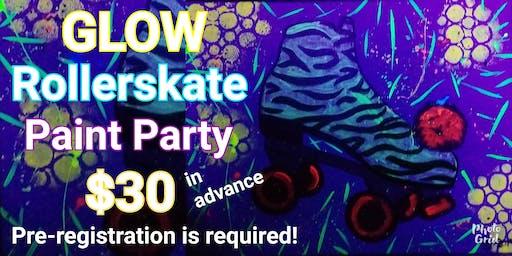 GLOW Rollerskate Paint Party