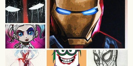 5 day Super Hero Summer Art Camp 6-9yrs & 10 yrs-13yrs  $150 - RSVP YOUR SPOT with $25 deposit / Mon - Fri 9 AM - 12 PM tickets