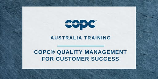 Quality Management for Customer Success - Sydney