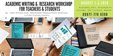 Academic Writing & Research Workshop for Teachers & Students tickets