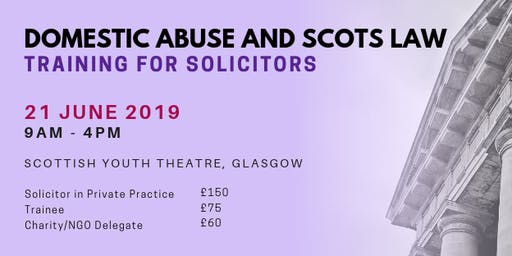 Domestic Abuse and Scots Law - Training for Solicitors