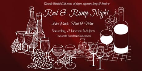 Tanunda Football Club 2019 Red & Rump Night  tickets
