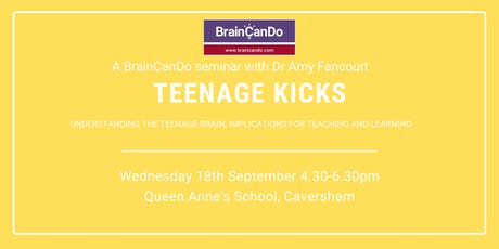 Teenage Kicks: Understanding the teenage brain tickets