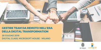 Gestire team da remoto nell'era della Digital Transformation