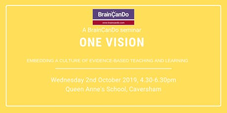 One Vision: Embedding a culture of evidence-based teaching and learning tickets
