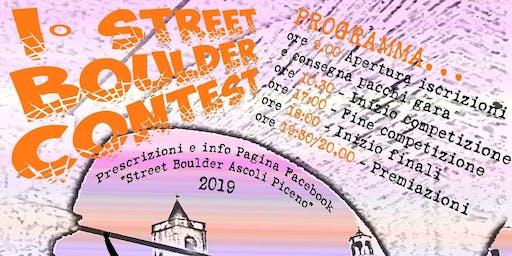Street boulder Ascoli Piceno 2019