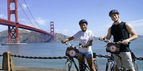 Alcatraz & Golden Gate Bridge to Sausalito Guided Bike Tour