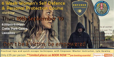 6 Week Women's Self Defence & Personal Protection Course