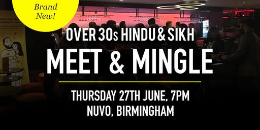 Hindu & Sikh Meet and Mingle Social Evening - Over 30s | Birmingham