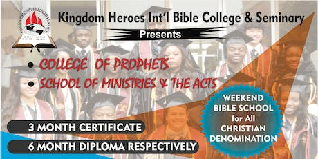 COLLEGE OF PROPHET SCHOOL OF MINISTRY AND ACTS tickets