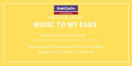 Music To My Ears - Neuroscience and music analysis tickets
