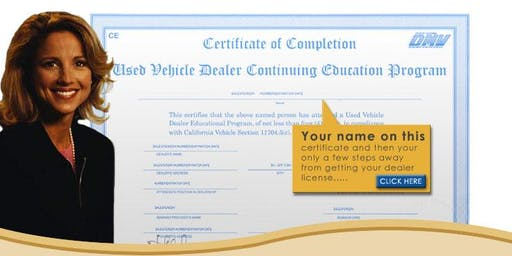 Online Dealer Renewal Class for California DMV (Priority Mail)